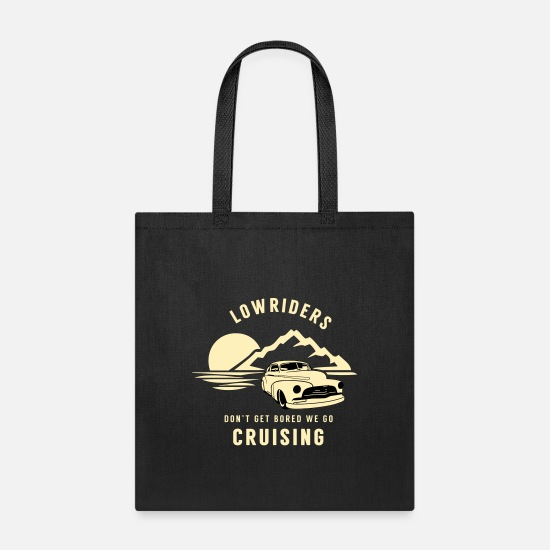 Hp Bags & Backpacks - Lowrider Jumpcar Hoppping Bouncer Geschenk - Tote Bag black