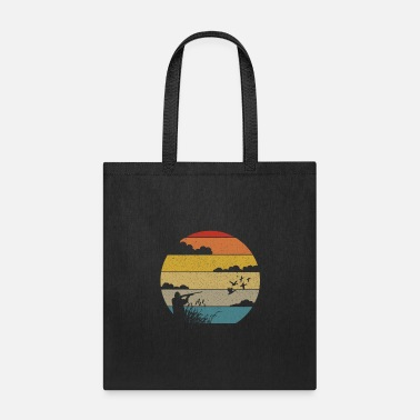 Duck Vintage Retro Duck Hunter Man Sunset Hunting - Tote Bag