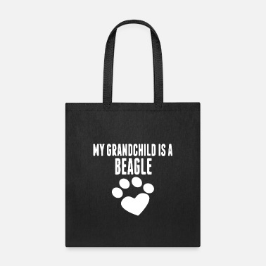 Grandchild my grandchild is a beagle - Tote Bag