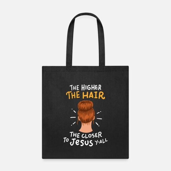 Hairstyle Bags & Backpacks - Funny Hairsylist Joke - Tote Bag black