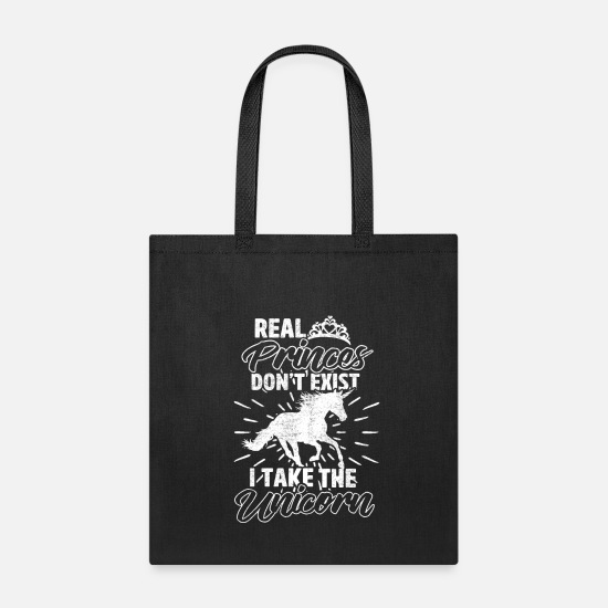 Fairy Bags & Backpacks - Dear Unicorn instead of Fairy Tale Prince - Tote Bag black