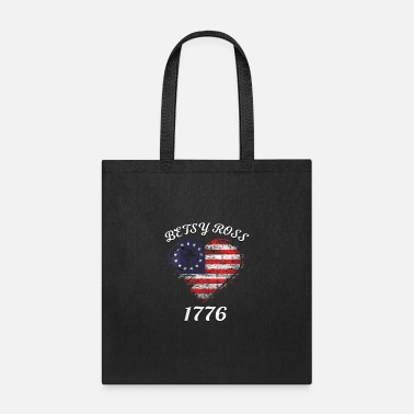 Betsy Ross Flag 1776 Vintage Revolutionary Flag Me - Tote Bag