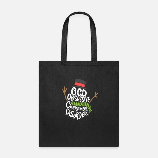 Christmas Bags & Backpacks - CHRISTMAS - OCD Obsessive Christmas Disorder - Tote Bag black