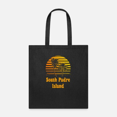 South Padre Island Texas South Padre Island Texas Sunset Palm Trees - Tote Bag