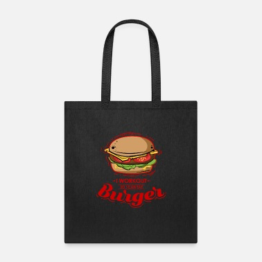 Guys I Workout for Burger - Premium Design - Tote Bag