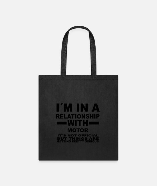 Undefined Bags & Backpacks - relationship with MOTOR SPORTS - Tote Bag black