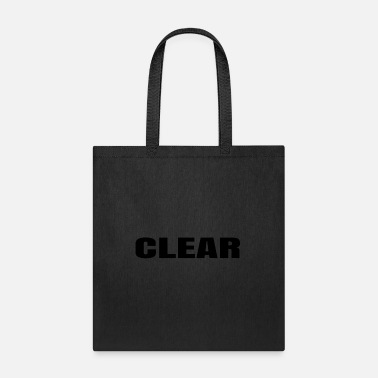 Clear Clear - Tote Bag