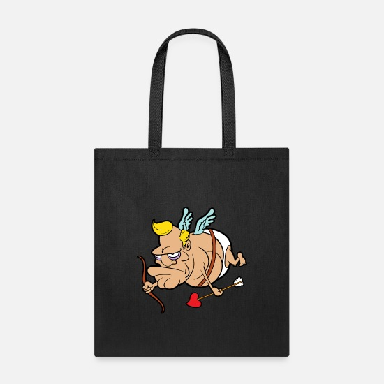 Heart Bags & Backpacks - Anti Cupid Valentine's Day - Tote Bag black
