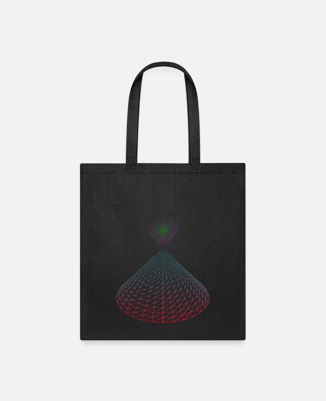 Geometry Bags & Backpacks - Geometric Neon Edition - Tote Bag black
