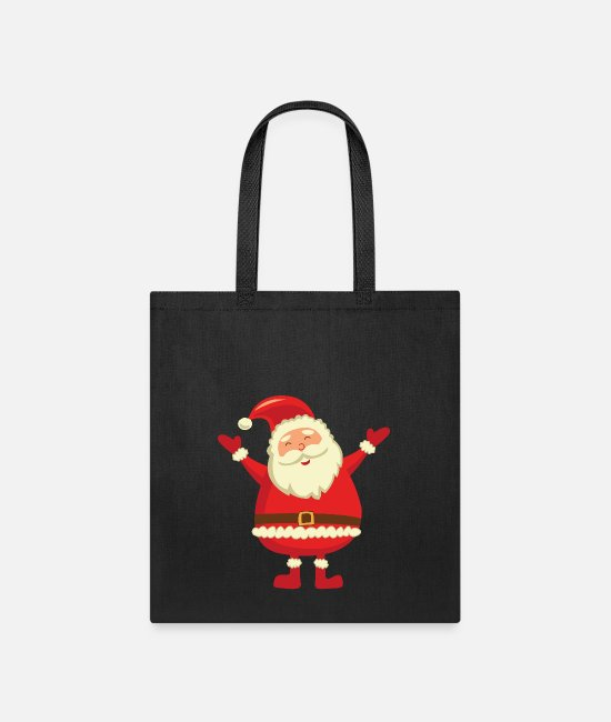 Couples Bags & Backpacks - santa claus - Tote Bag black
