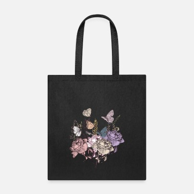 Butterflies and flowers - Tote Bag
