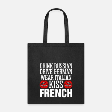 Kiss Drink Russian Kiss French - Tote Bag