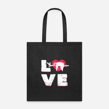 Wilderness Sloth Love Typograhpy Cute Animals Lazy Wildlife - Tote Bag