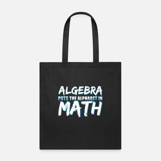 Mathematics Bags & Backpacks - Algebra - Tote Bag black