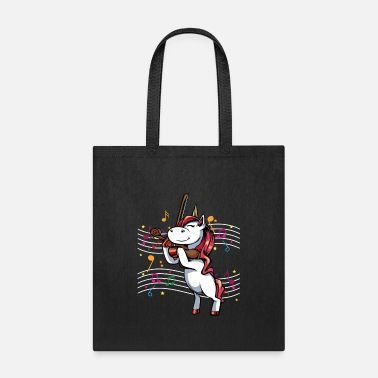 Fairy Tales violinist unicorn magic violin mythical animal gif - Tote Bag