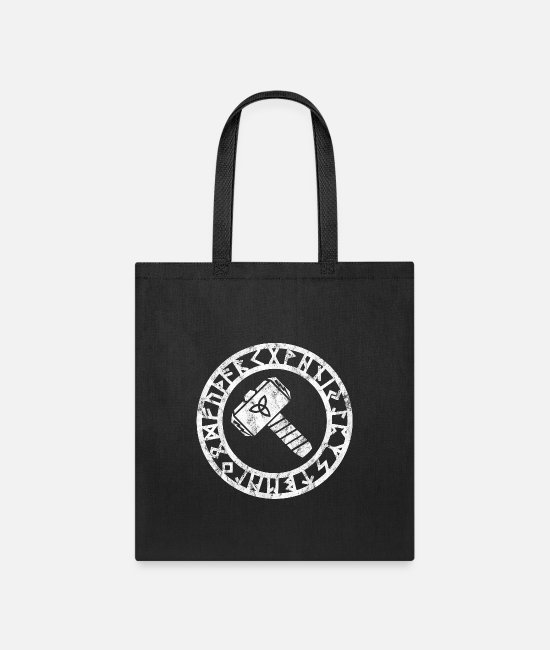 Asgard Bags & Backpacks - Thors Hammer Viking Triskele Runes Protection Odin - Tote Bag black