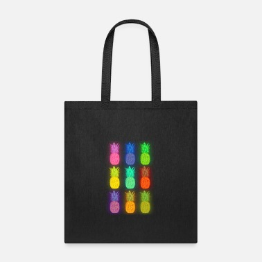 Pineapple Neon pineapple colorful neon - Tote Bag
