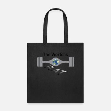 Flat The World is Flat - Tote Bag