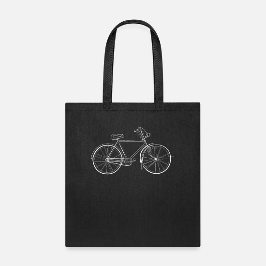 Gift Idea Bags & Backpacks - Bicycle - one line drawing - Tote Bag black