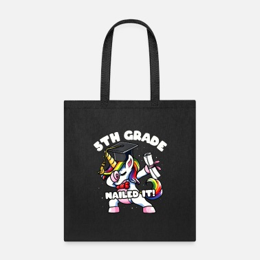 5th-fifth-grade Girls Dabbing Unicorn 5th Fifth Grade Nailed - Tote Bag