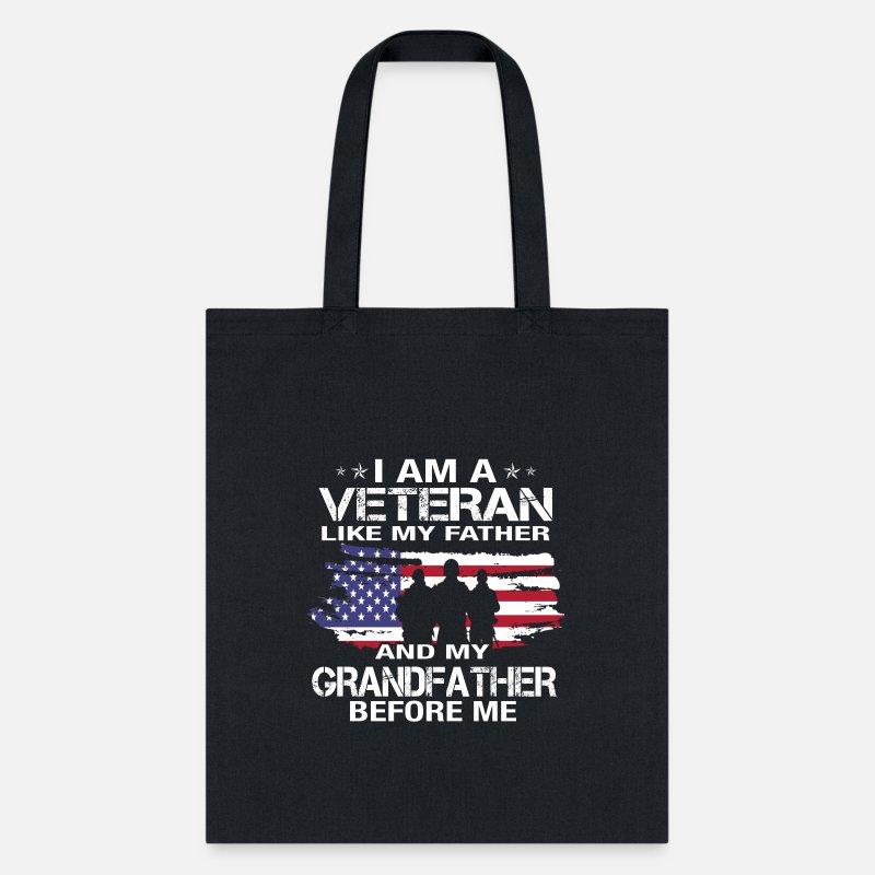 Veteran Grandpa Womens Tote Bags Canvas Shoulder Bag Casual Handbags