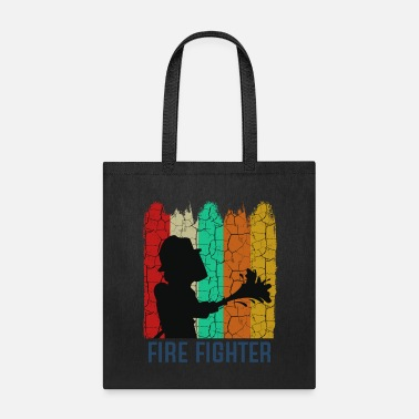 Marshall Retro Style Vintage Firefighter Cool Silhouette - Tote Bag