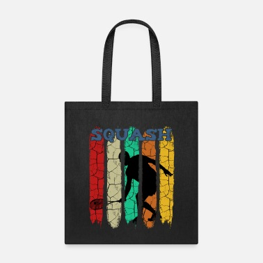 Double Retro Style Vintage Squash Player Silhouette 70s - Tote Bag