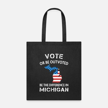 Election Michigan Voter Quote Difference Election Vote - Tote Bag