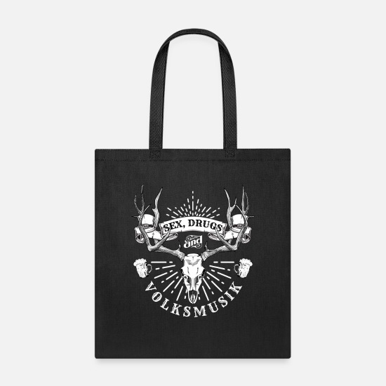 Oktoberfest Bags & Backpacks - Oktoberfest Sex Drugs and Volksmusik - Tote Bag black