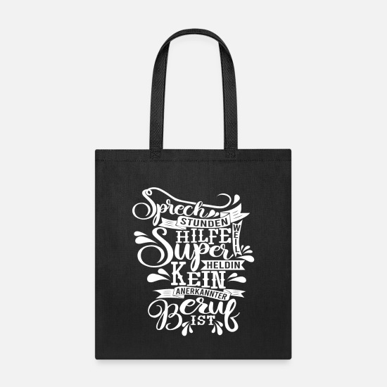 Receptionist Bags & Backpacks - Receptionist because super heroine is not - Tote Bag black