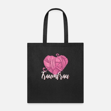 Folk Valentines Day Present Heart Wool Dream Woman - Tote Bag
