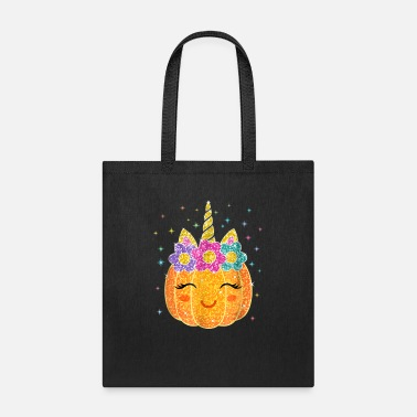 Pumpkin Cute Unicorn Pumpkin Halloween Thanksgiving - Tote Bag