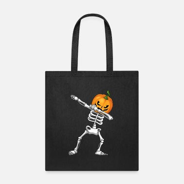 Pumpkin Halloween Kids Pumpkin Skeleton Dabbing Funny - Tote Bag