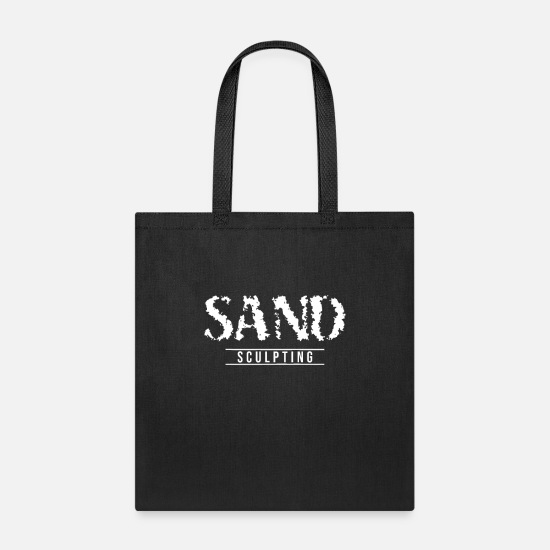 Sculpture Bags & Backpacks - Build Sand Sandcastle sand Sculpting Sand Sculpter - Tote Bag black