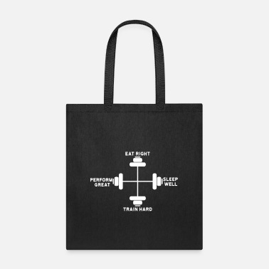 Exercise The 4 Commandments of Fitness - Tote Bag