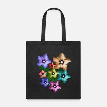 Floral Garden hibiscus, hibiscus, bunch of flowers - Tote Bag