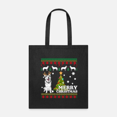 Siberian Husky Ugly Sweater Christmas Cute Dog - Tote Bag