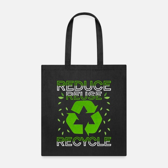Recycle Bags & Backpacks - Reduce Reuse Recycle Environmental - Tote Bag black
