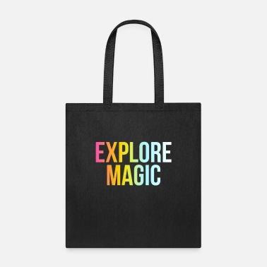 Vibes Explore Magic - Funny Cool Positive Quote - Tote Bag