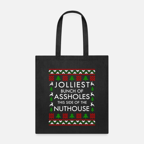 Best Bags & Backpacks - Jolliest Bunch of Assholes - Christmas Vacation - Tote Bag black