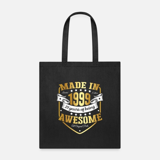 Birthday Bags & Backpacks - Birthday 21 gift idea Awesome - Tote Bag black