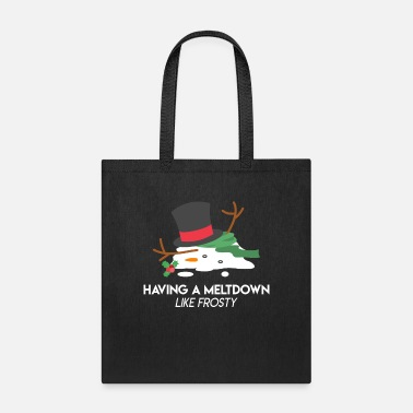 Weather Snowman Meltdown Christmas Holiday Stress Winter - Tote Bag