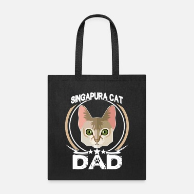 Sunglasses Singapura Cat Dad Shirt Fathers Day Gift Cat Love - Tote Bag