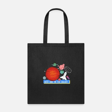Galaxy Best Dad In The Galaxy - Tote Bag