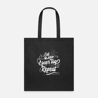 Plus Eat Sleep Lasertag Repeat - Tote Bag