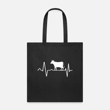 Show Cow Pulse Heartbeat Cattle - Tote Bag