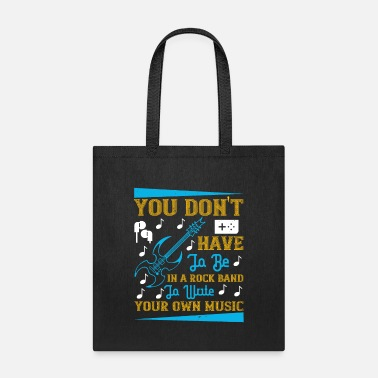 Techno You Don't Have To Be In A Rock Band - Tote Bag