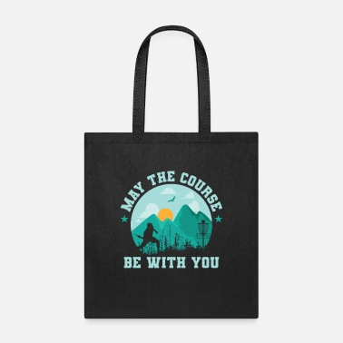 Sleeping May The Course Be With You Discgolf - Tote Bag