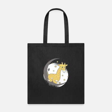Without Cute Giraffe sitting on the moon - Tote Bag