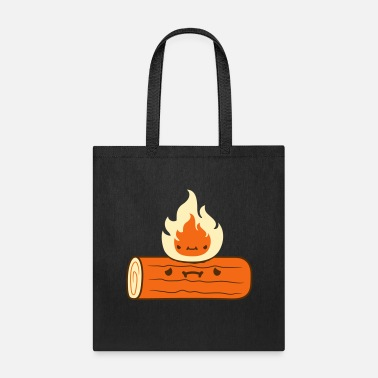 Clipart logs burns - Tote Bag